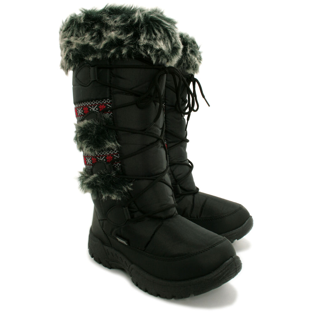 Womens Wide Winter Snow Boots KVIIP91i