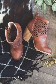 Ankle Boots With Holes