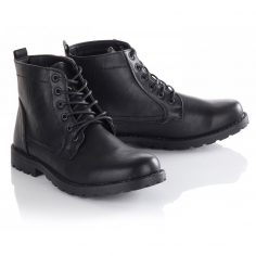 Black Mens Leather Boots