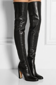 Cheap Leather Thigh High Boots