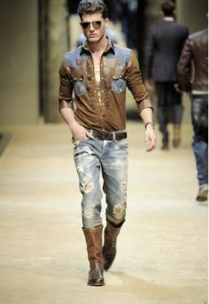 Cowboy Boots Mens Fashion