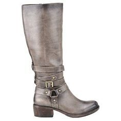 Grey Leather Boots For Women