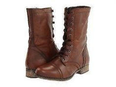 Ladies Brown Combat Boots