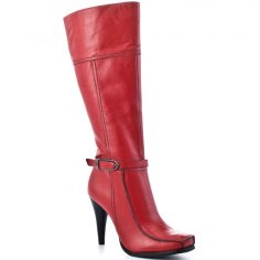 Red Leather Boots For Women