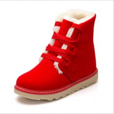Red Snow Boots Women