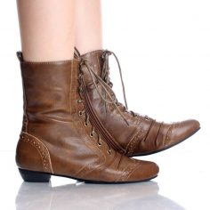 Women Ankle Boots Lace Up
